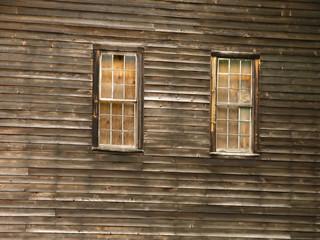 barn - boarded up window