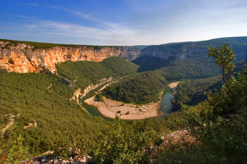 river canyon in provence.