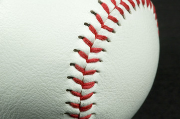 close-up picture of a baseball
