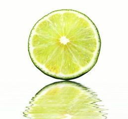 morsels of lime in water