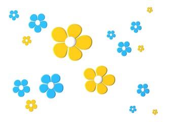 wiese gelb blau