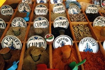 Poster de jardin Tunisie marché aux épices