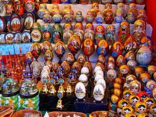 tray of souvenirs