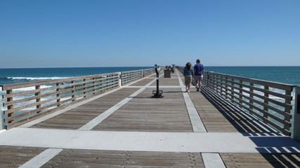 walking on pier