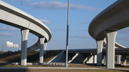 twin highway overpasses