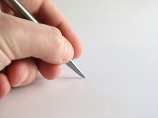 hand & pen
