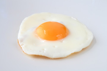 traditional fried egg isolated