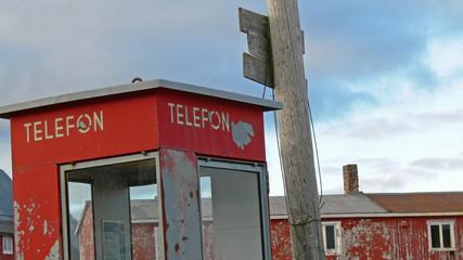 Printed kitchen splashbacks Pole telephone