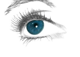 artwork of an blue eye