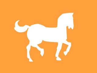 horse white silhouette