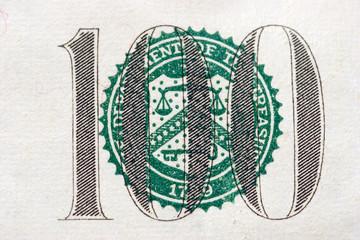 hundred dollar bill balance scales