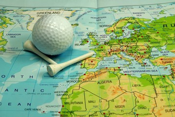 map and golf