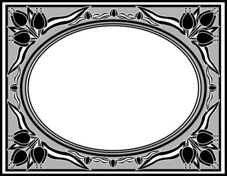 tulip frame grayscale