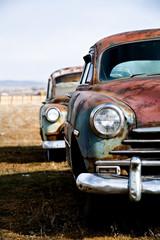 Fototapeta premium wersja pionowa samochodów zabytkowych