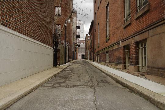 long empty alley