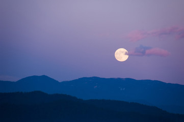 full moon and landscape