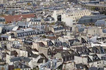 the paris`s housetops.