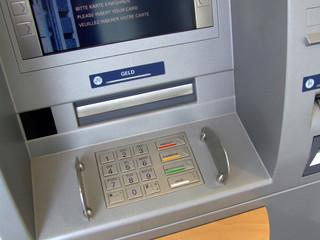 geldautomat mit monitor