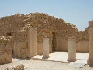 ruines de la forteresse de massada en israël
