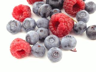 raspberries and bilberries - summer fruits