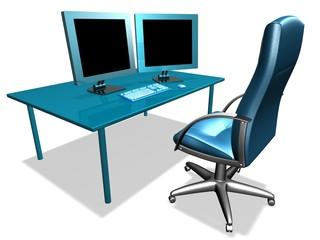 modern business desk