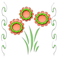 flower cutouts poster