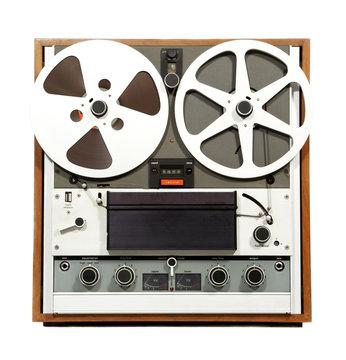 retro open reel audio recorder