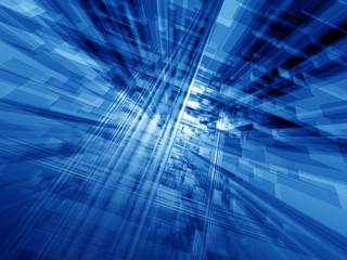 blue cyberspace