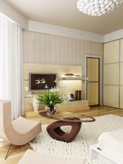 modern bedroom interior rendering