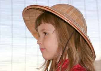 tête chapeautée
