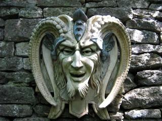 sculpture of the satan/ devil