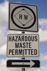 hazardous waste sign