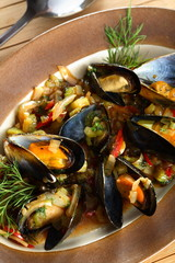 seafood with cherry liqueur
