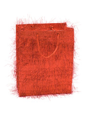 red bag for gifts
