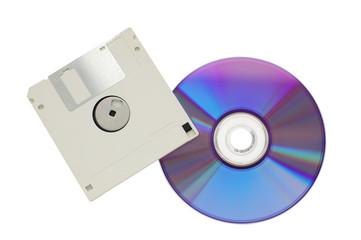 cd-rom and floppy