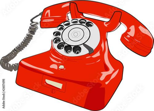 Telephone rouge photo libre de droits sur la banque d 39 images - Acheter un telephone fixe ...