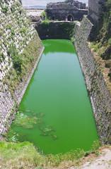 moat in castle - krak des chevaliers