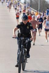 police officer on bike