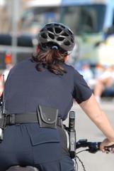 policewoman on bike