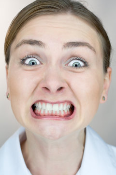 uptight expression closeup