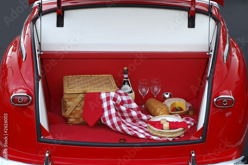 Wall mural classic tailgate party