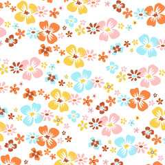 fleurs fond blanc