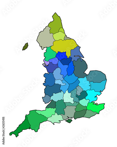 Map Of England Showing Counties Stock Photo And Royalty Free Images
