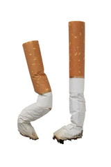 two stubs of cigarettes