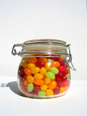 jelly beans in jar