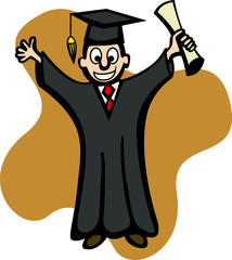 young graduate with diploma