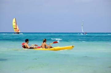 water recreation sport at tropical beach