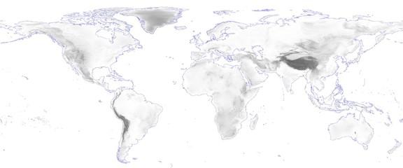 world map with blue corona