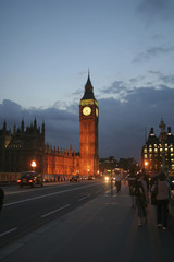 london big ben view in the night