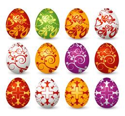 twelve easter eggs